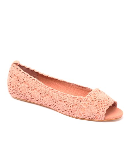 Rose Box Office Peep-Toe Flat