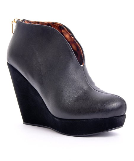 Black Monica Wedge Bootie
