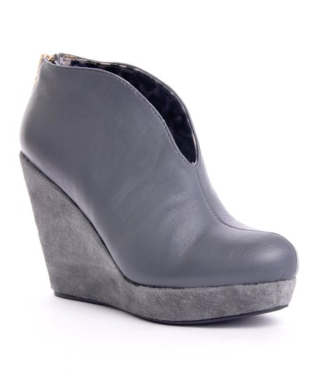 Gray Monica Wedge Bootie