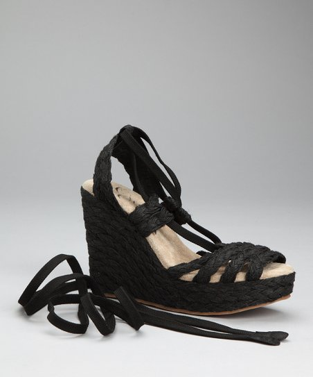 Black Tween Espadrille