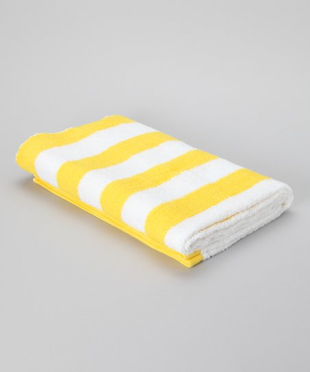 Lemon Stripe Havana Cabana Towel - Set of Two