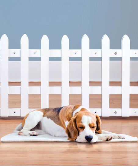 White Picket Fence Expandable Pet Gate