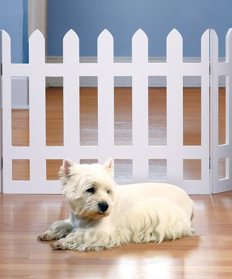 White Picket Fence Folding Gate