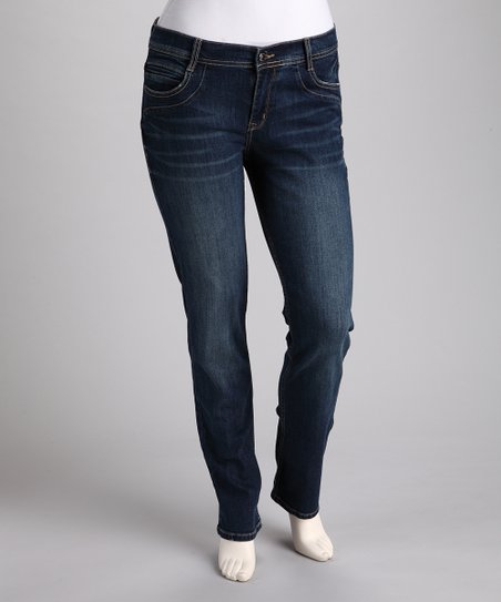 Medium Stone-Wash Plus-Size Skinny Jeans