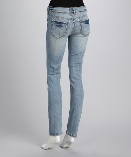Light Stone Fade Skinny Jeans