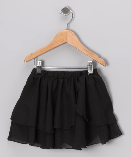 Black Two-Tier Skirt - Girls