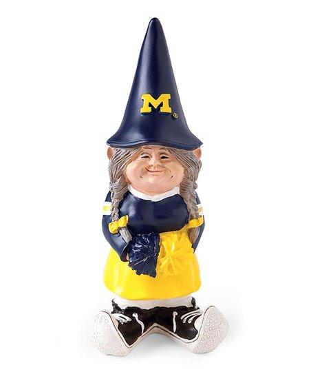 Michigan Cheerleader Garden Gnome