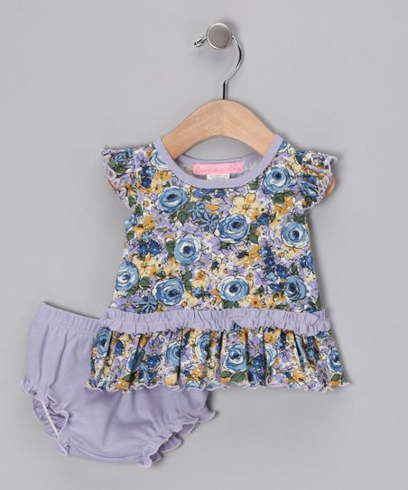 Blue Oasis Dress & Diaper Cover - Infant