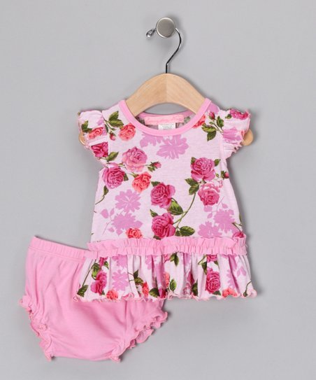 Pink Romance Dress & Diaper Cover - Infant