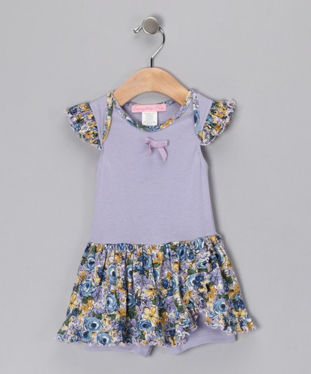 Blue Oasis Skirted Romper - Infant