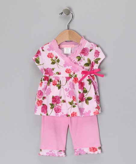 Pink Romance Wrap Top & Pants - Infant