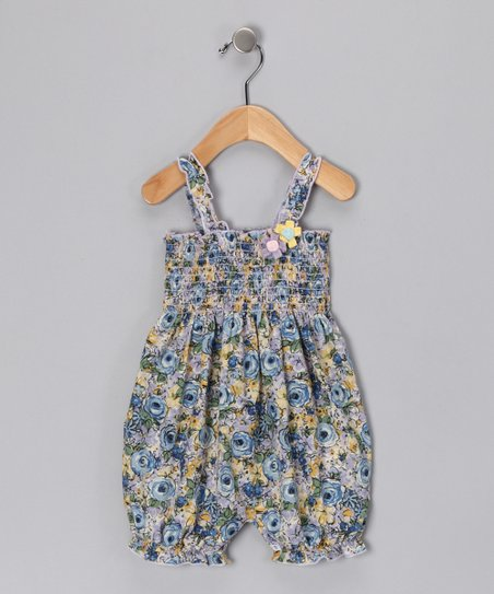 Blue Oasis Smocked Voile Romper - Infant