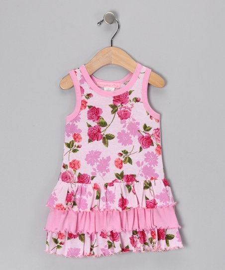 Pink Romance Ruffle Dress - Infant