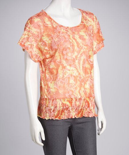 Eyeshadow Emerglow Tie-Dye Tropical Top