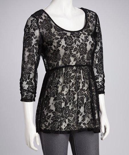 Eyeshadow Black Lace Tunic