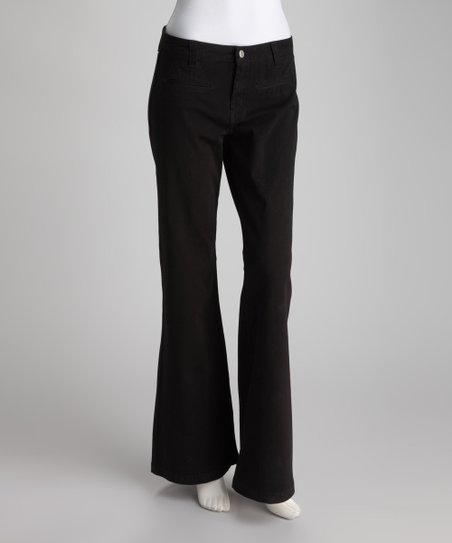 Black Wide-Leg Pants