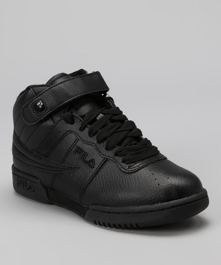 Triple Black Smooth F13 Hi-Top Sneaker