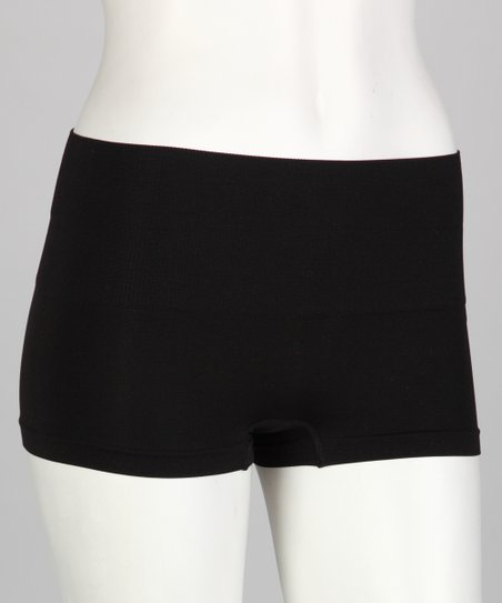 Black High-Waist Shaper Boyshorts