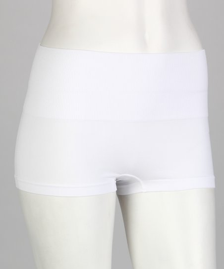 White High-Waisted Shaper Boyshorts