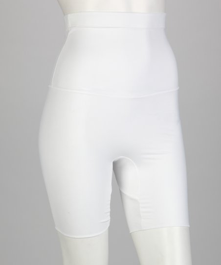 White Thigh Trimmer High-Waisted Shaper Shorts