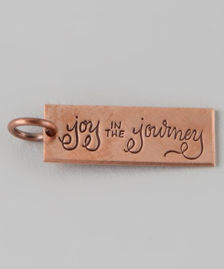 Copper 'Joy in the Journey' Rectangle Charm