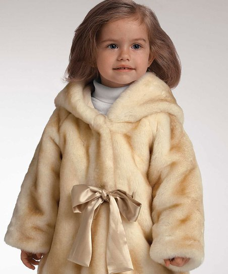 Donna Salyer Champagne Faux Mink Coat - Infant & Toddler