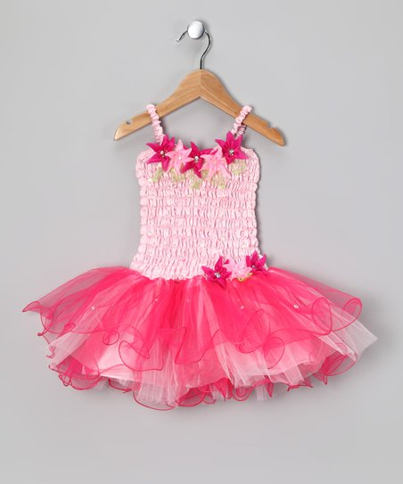 Pink Flora Dress - Toddler & Girls