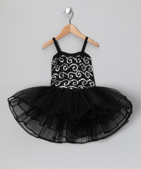 Black Stella Luna Dress - Toddler & Girls