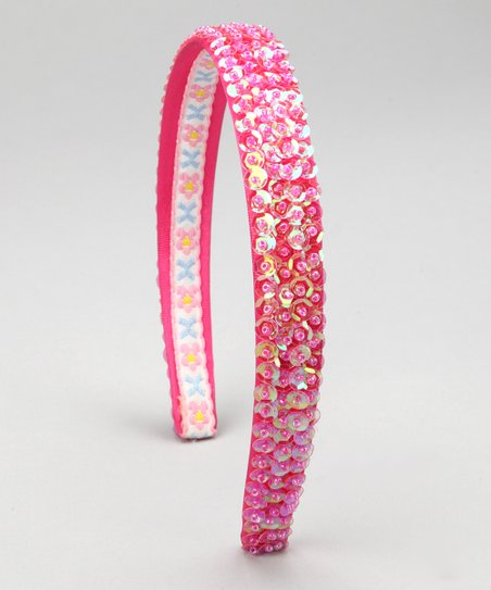 Fuchsia Sequin Headband