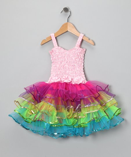 Pink Rainbow Lily Dress - Toddler & Girls