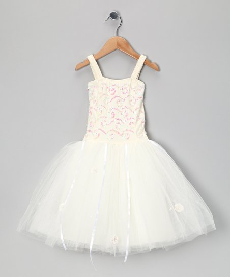 Cream Twinkle Dress - Toddler & Girls