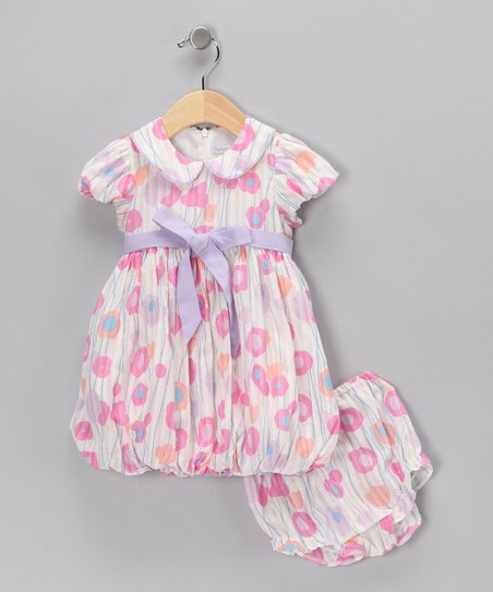 Pink Tulip Bubble Dress & Bloomers - Infant