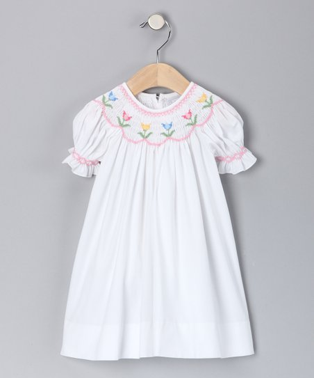 White Tulip Bishop Dress - Infant & Toddler