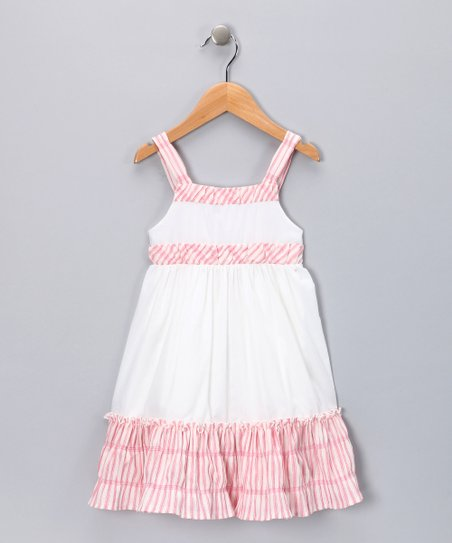 Pink Stripe Ruffle Babydoll Dress - Toddler & Girls