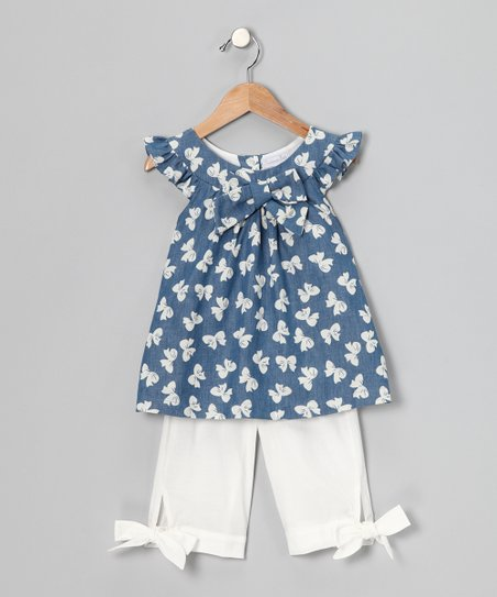 Navy Bow Swing Top &amp; Pants - Infant, Toddler &amp; Girls 