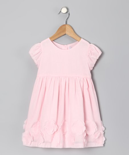 Pink Flower Appliqué Dress - Infant & Toddler