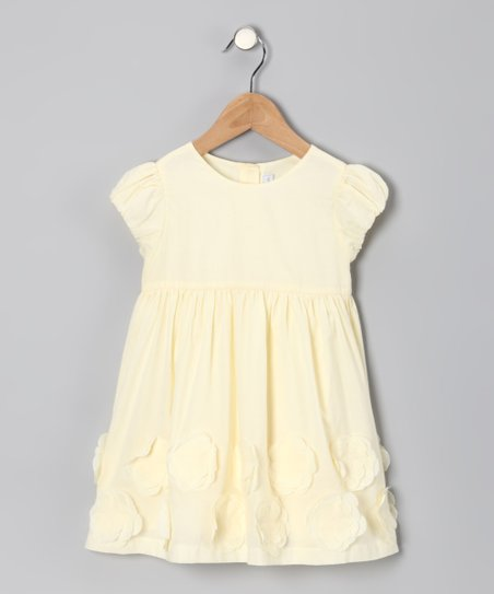 Yellow Flower Appliqué Dress - Infant & Toddler