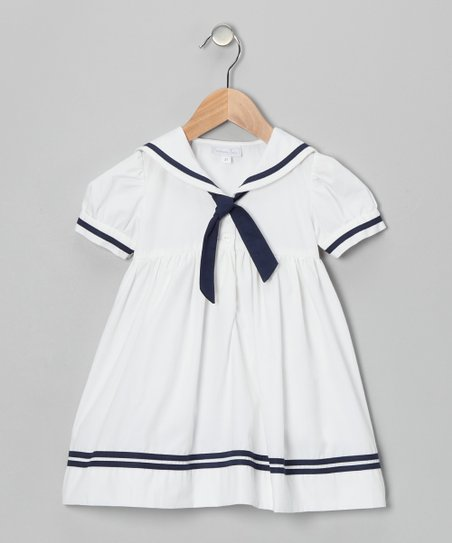 White Sailor A-Line Dress - Infant, Toddler & Girls
