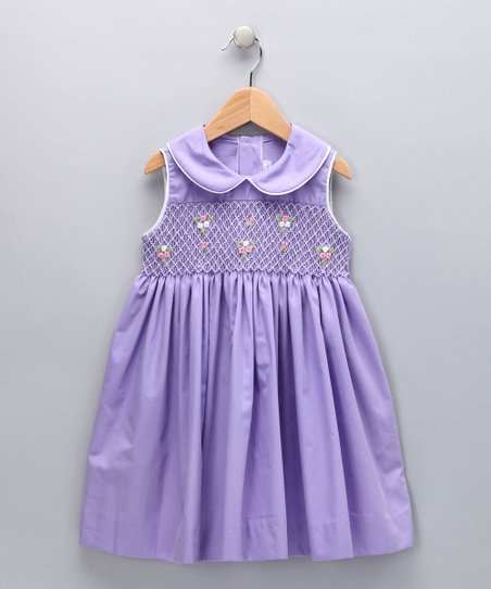 Lavender Smocked Garden Dress - Infant, Toddler & Girls