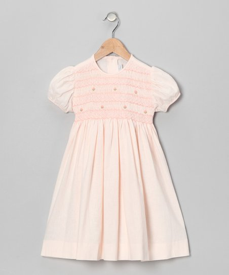 Pink Rose Puff-Sleeve Dress - Toddler