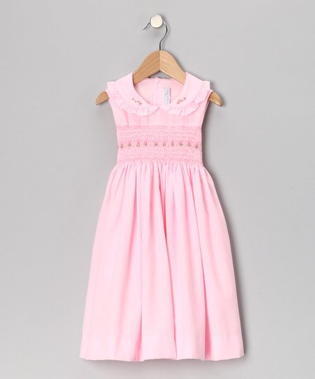 Pink Rose Smocked A-Line Dress - Infant, Toddler & Girls