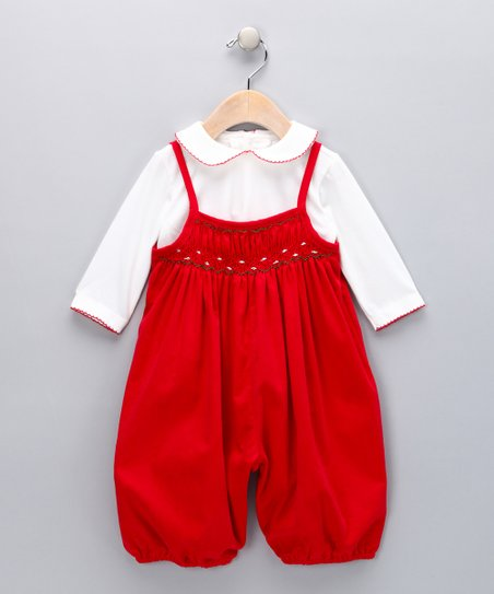 White Top & Red Romper - Infant
