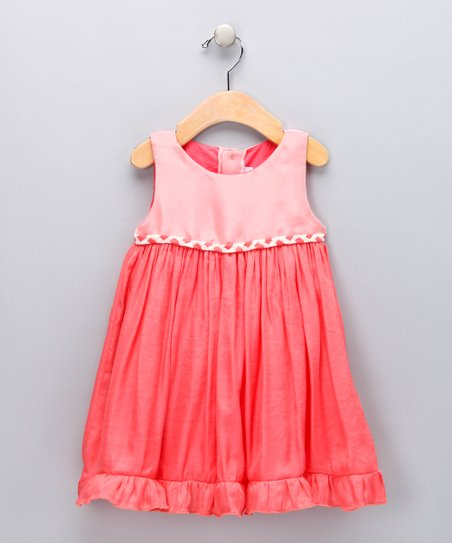 Orange Ruffle Babydoll Dress - Infant, Toddler &amp; Girls