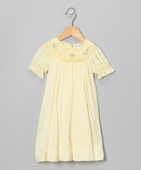 Yellow Rose Bishop Dress - Infant & Toddler