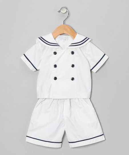 White Sailor Shirt & Shorts - Infant & Toddler