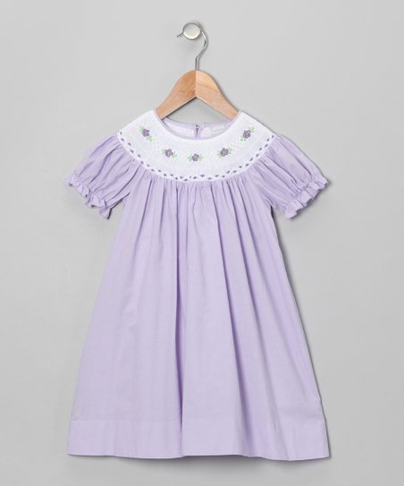 Lavender Flower Bishop Dress - Infant