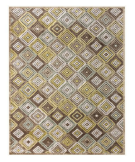 Chocolate & Olive Abra Rug