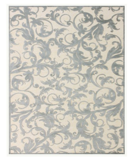 Cream &amp; Silver Leah Rug