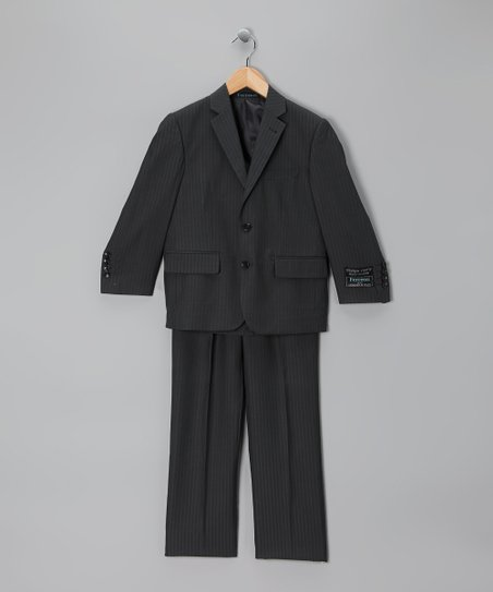 Charcoal Gray Three-Piece Suit - Boys
