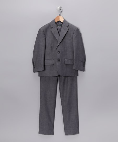 Light Gray Three-Piece Suit - Boys